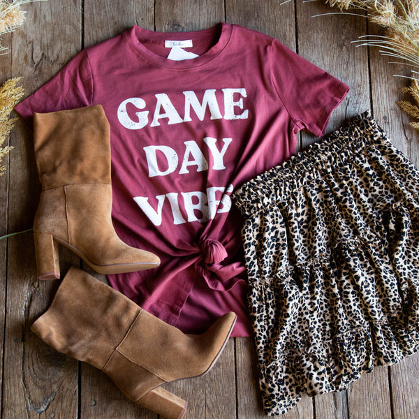 Game Day Graphic Tee, Marsala