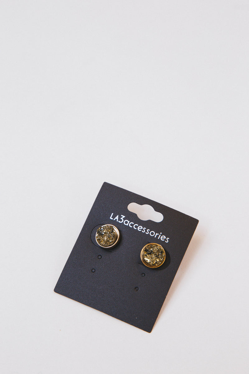 Sia Stud Earrings, Gold
