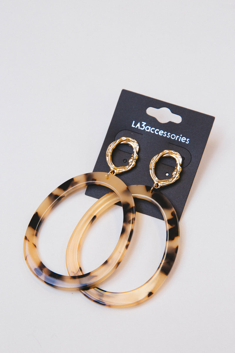 Forever Yours Earrings, Gold/Tortoise