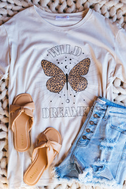Wild Dreamer Butterfly Graphic Tee, Antique White | Plus Size
