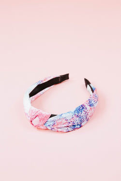 Hard Candy Headband, Blue/White