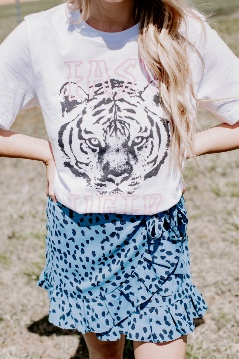 Easy Tiger Graphic Tee, White | Extended Sizes Available