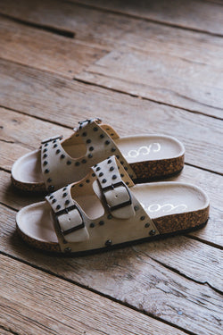 Tilly Double Strap Slide On Sandal, Taupe