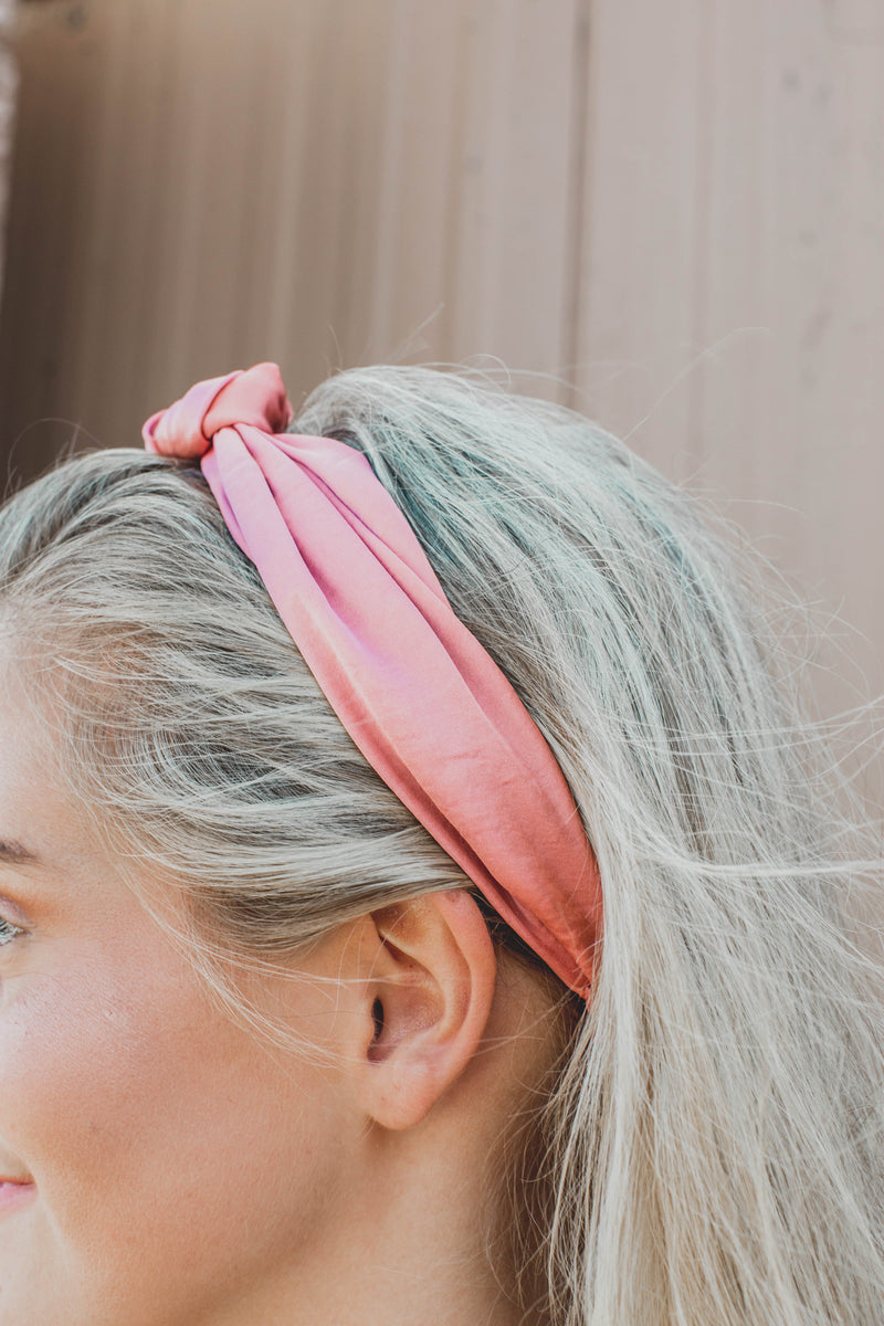 Satin Headband, Mauve