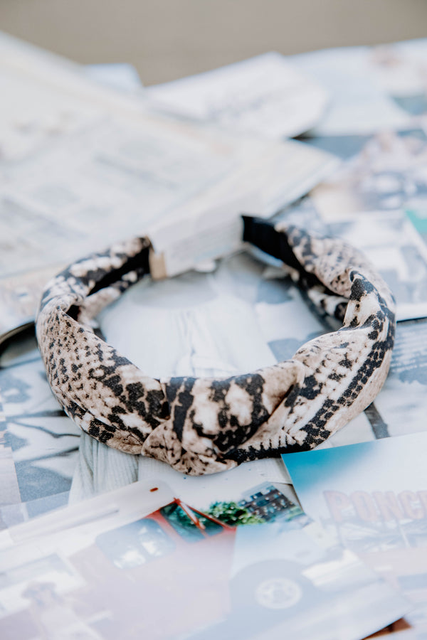 Mini Headband, Natural Snake