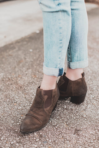 Favorite Low Heel Boot, Tan
