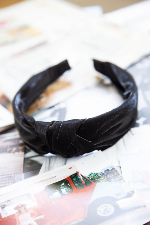 Knot Hair Band, Black