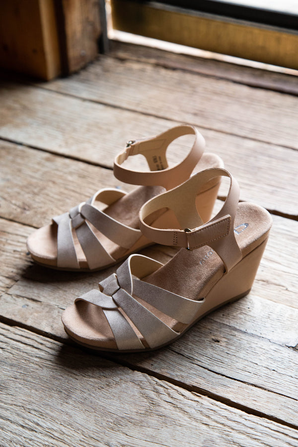 Truest Shimmer Burnished Wedge, Blush Nude | CL by Laundry