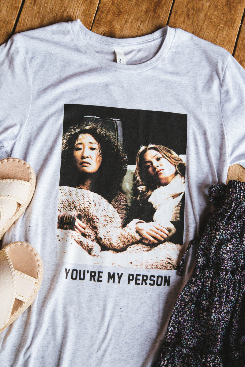 You're My Person Graphic Tee, Heather Grey