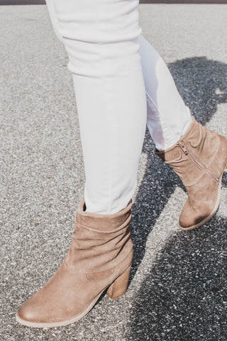 Lawson Suede Slouchy Boot, Taupe | Rebels | Quality Brand Shoes