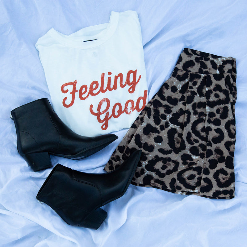 Feeling Good Tee, White