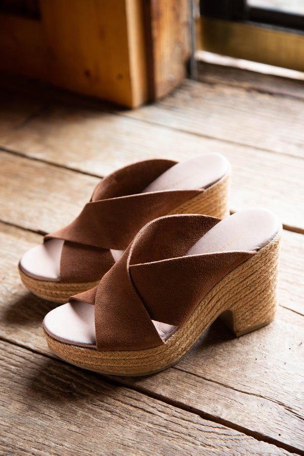 Quay Split Suede Heel, Rusty Brown | Chinese Laundry | Women's Shoes