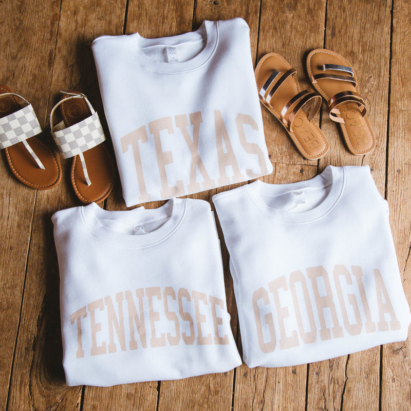 Neutral Feels State Sweatshirt, Texas