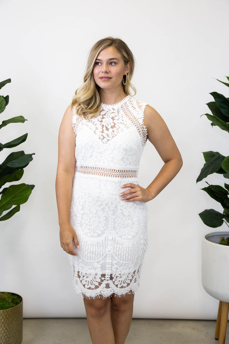 Charming Lace Dress, Off White