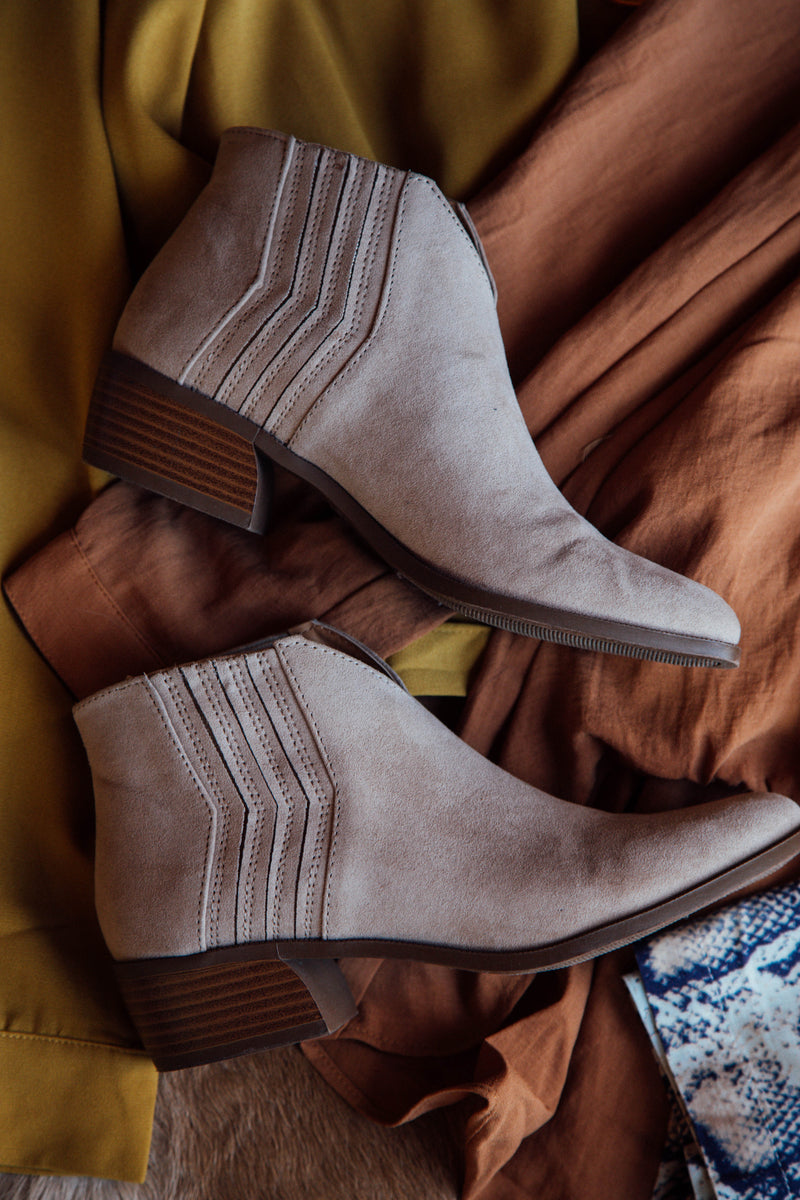 Rager Short Boot, Taupe Suede