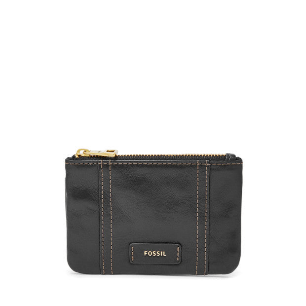 Ellis Zip Coin, Black by Fossil