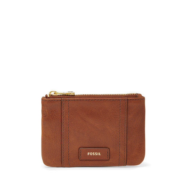 Ellis Zip Coin, Brown | FOSSIL