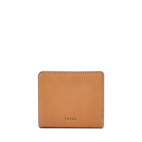 RFID Logan Zip Wallet, Tan | FOSSIL