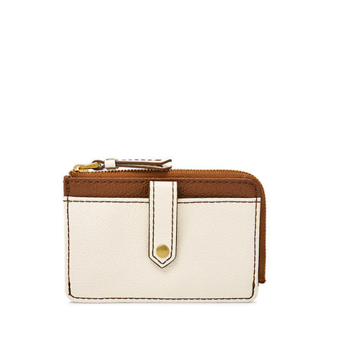 Keely Tab Card Case, Bone