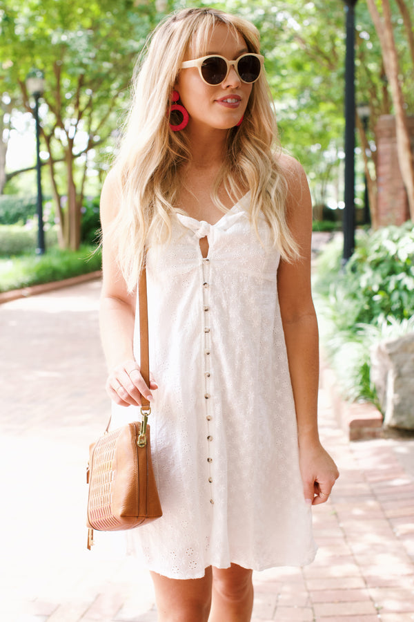 Lovely Linen Midi Dress, Off White | Women's Summer Sundresses