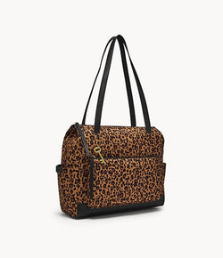 Jenna Shopper Bag, Cheetah | Fossil®