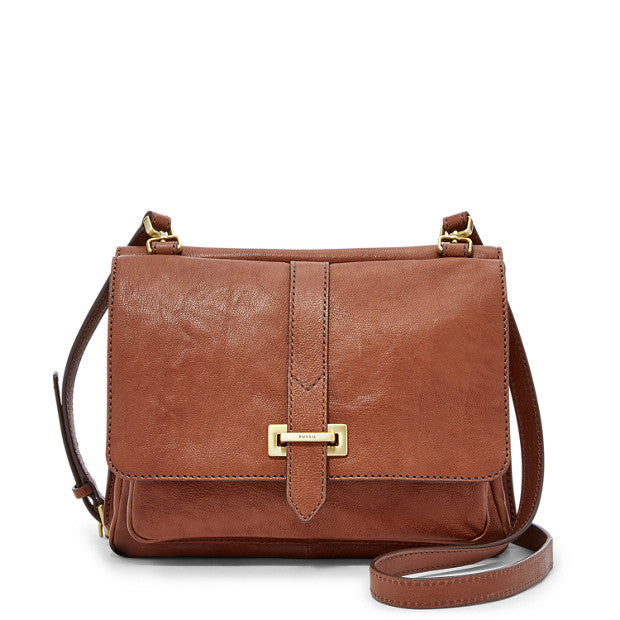 Maddie Small Crossbody, Brown by Fossil