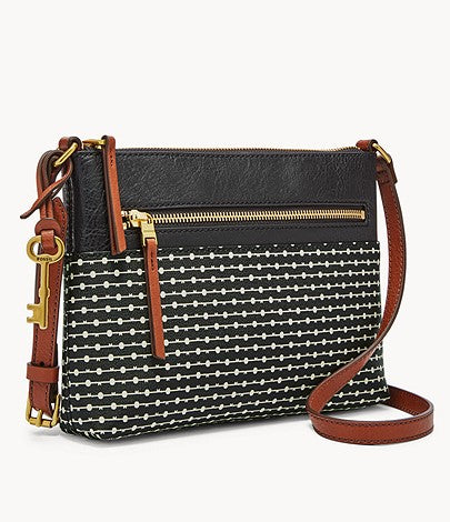 Fiona Crossbody, Black Stripe