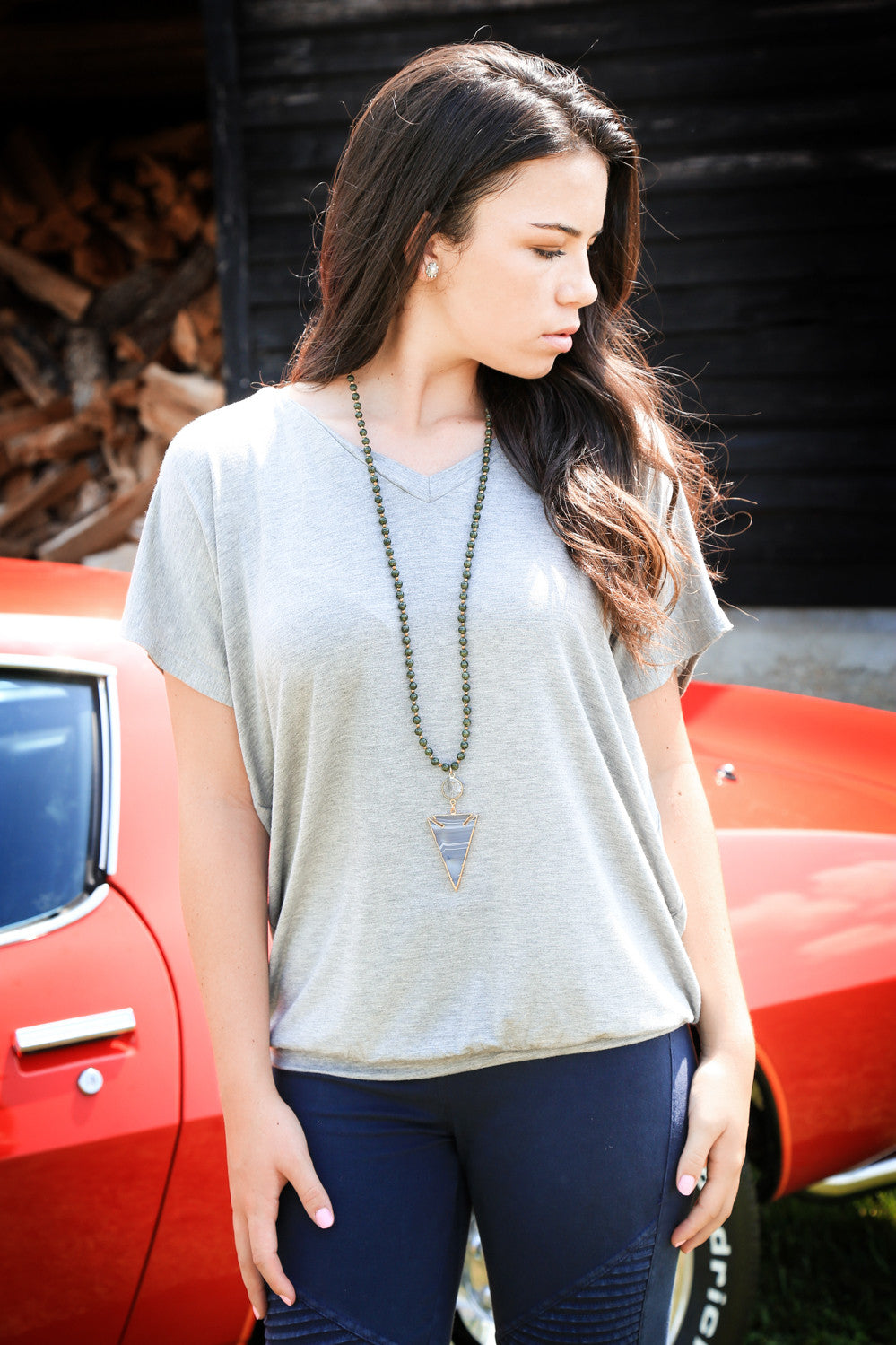 The Chrissy Necklace, Forest | BPD - The Loft Boutique - Accessory  - 2