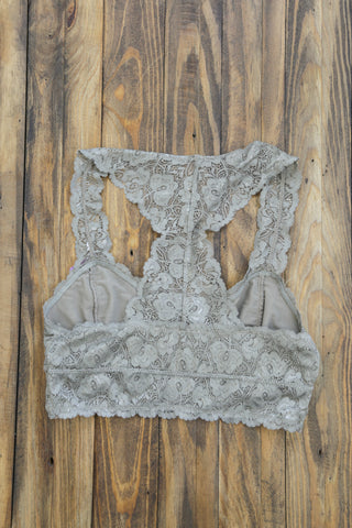 Fiona Lace Bralette, Taupe