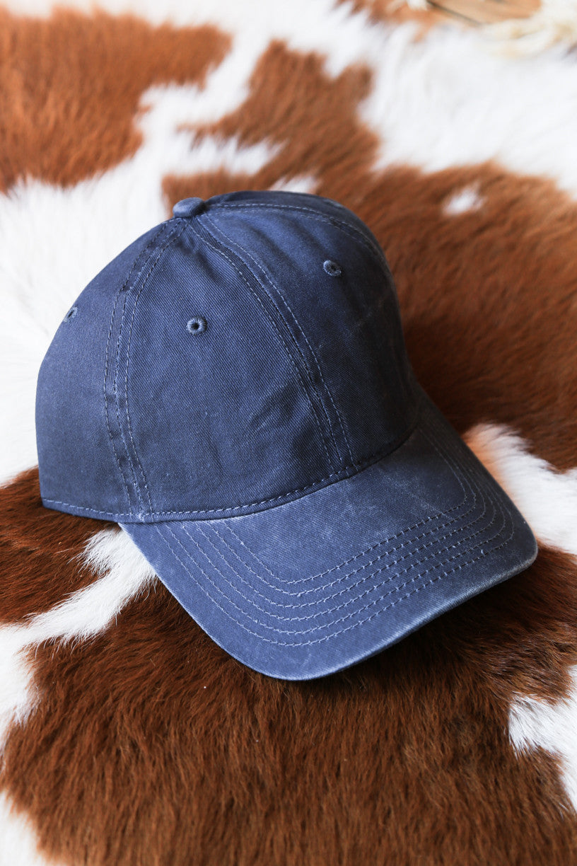 Basic Baseball Cap, Navy - The Loft Boutique - Accessory  - 1