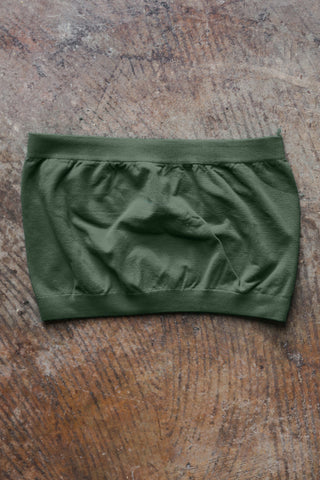 Basic Stretch Bandeau, Olive - The Loft Boutique - Clothing