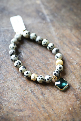 Lottie Dangle Bracelet, Emerald Square | Love's Affect - The Loft Boutique - Accessory  - 1