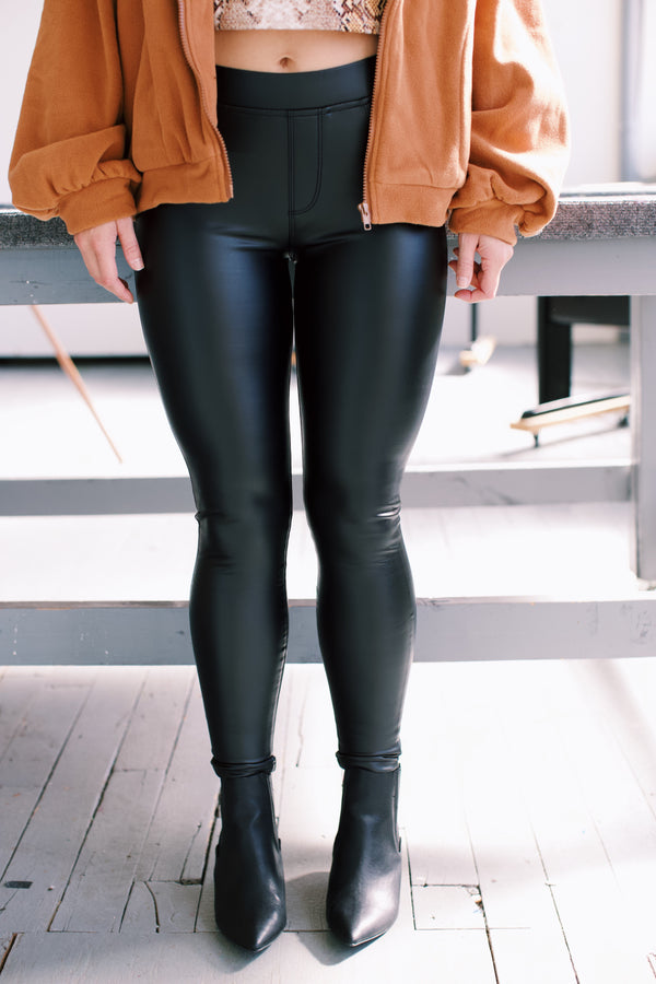 Runway Vegan Leather Leggings, Black | Sanctuary