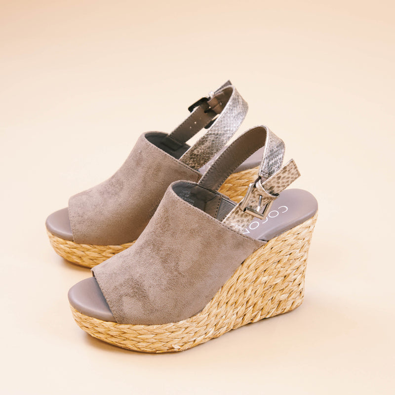 Frisco Jute Espadrille Slingback Wedge, Charcoal | Coconuts by Matisse