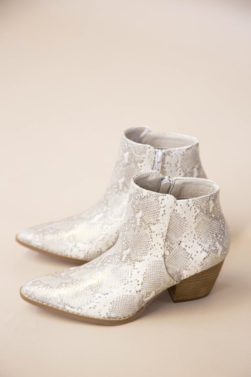 Astoria Snake Print Bootie, Natural | Coconuts by Matisse
