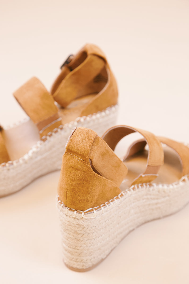Soire Suede Jute Espadrille Heel, Saddle | Coconuts by Matisse