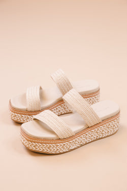 Zion Platform Sandal, Cream/ Natural | Chinese Laundry