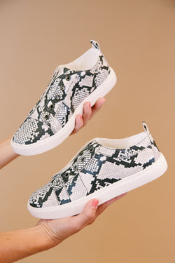 Someday Slip On Sneaker, Black/White Snake | Coconuts by Matisse