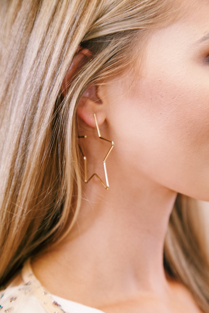 Star Earring, Gold