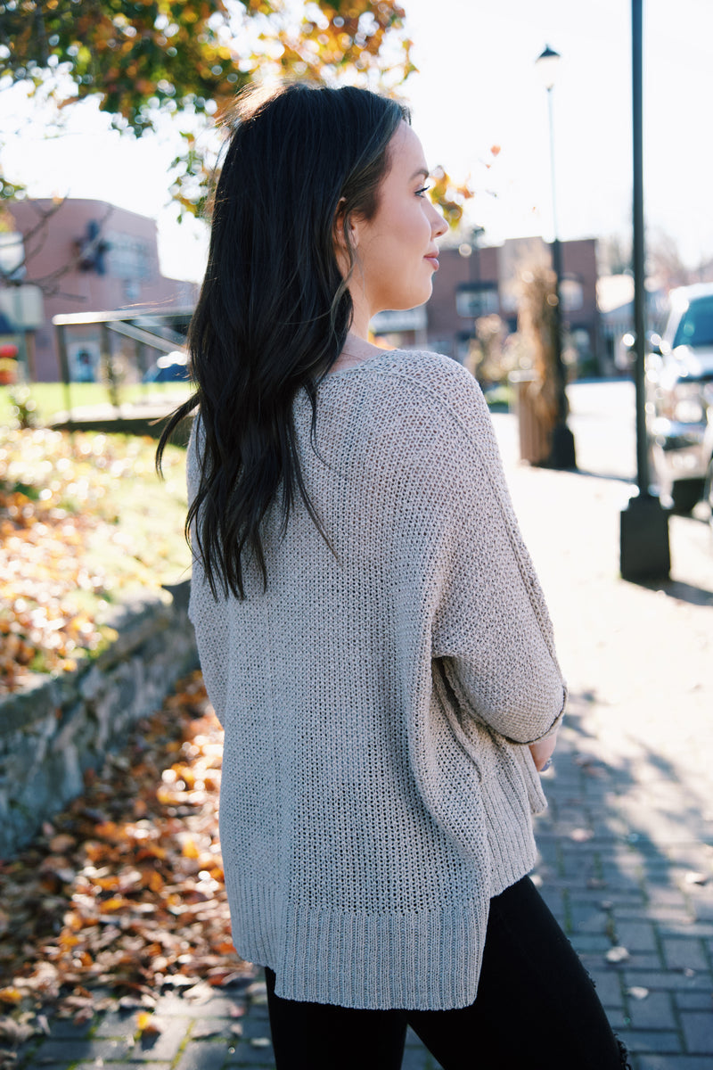 Our Moment Knit Sweater, Oatmeal