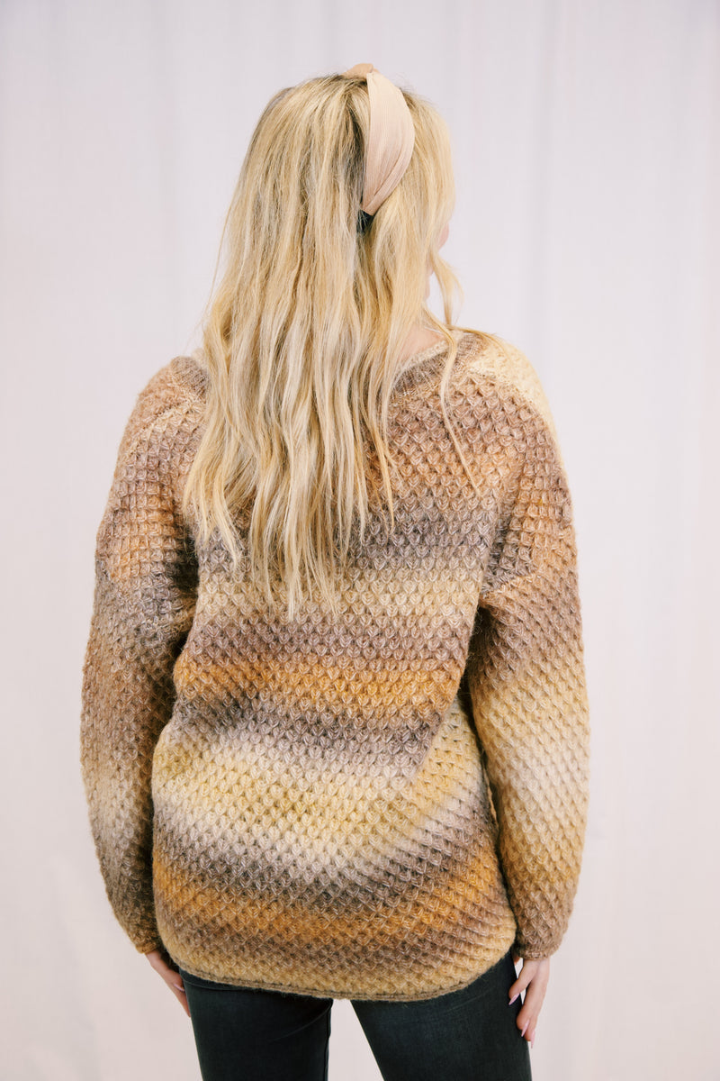 Thatcher Dip Dye Sweater, Spice/Chestnut