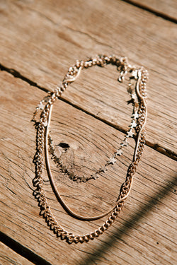 Kodi Layered Chain Necklace, Gold