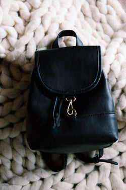 Myles Mini Backpack, Black
