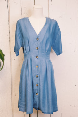 Blue Jean Baby Denim Dress, Denim Blue