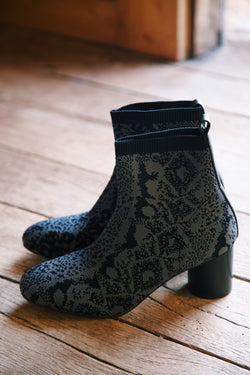 Rhythm Fly Knit Sock Bootie, Charcoal | Sanctuary