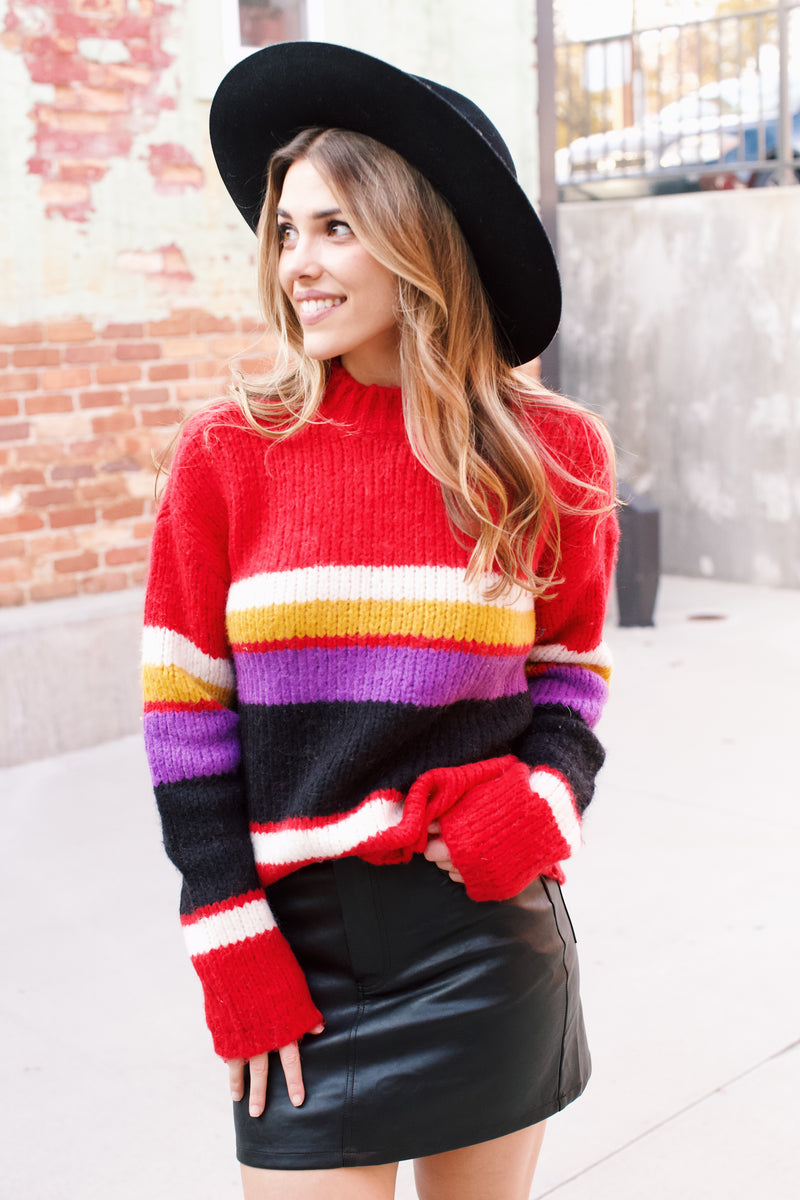 Serendipity Striped Sweater, Red Multi | Sanctuary