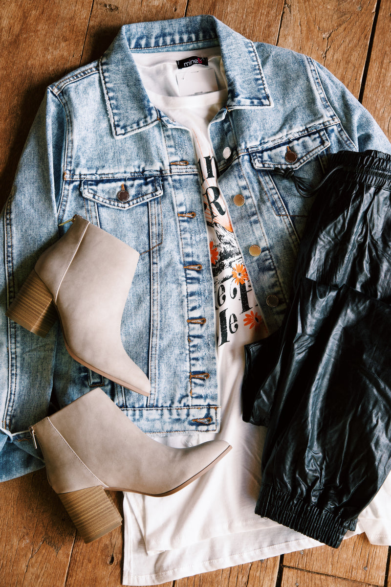 Make It True Denim Jacket, Light Acid Denim