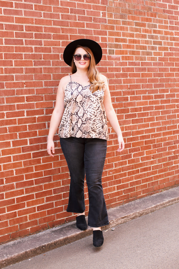 Cami Top, Tan Snake | Plus Size