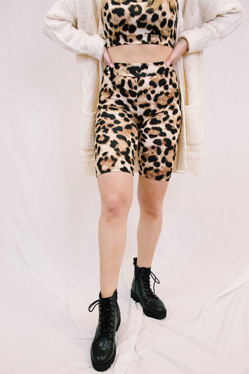 Miley Leopard Bra Top, Taupe Leopard