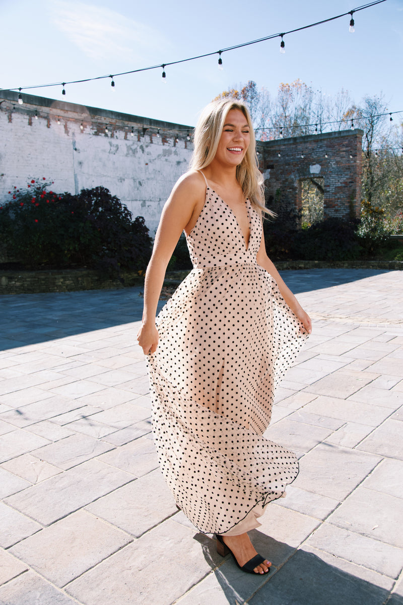 Pure Potential Maxi Dress, Nude